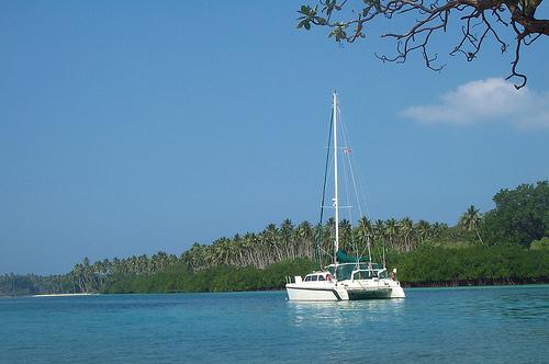 Moored at Aore Island, Vanuatu