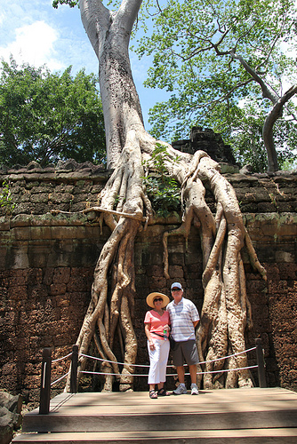 John and Anne Reynolds at Ta Prohm Temple