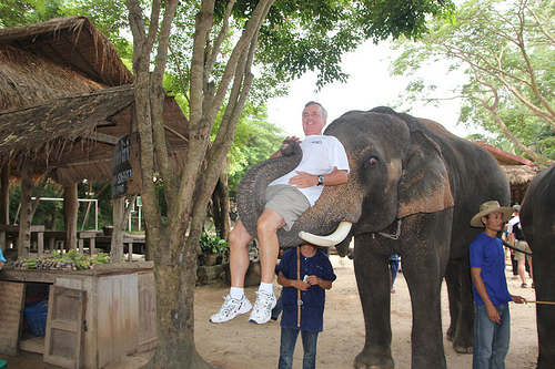 John at Elephant Park in Thailand