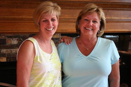 Jane Clark and Sheila Stevens