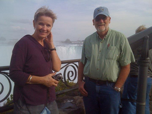 Kay and Byron Taylor at Niagara Falls