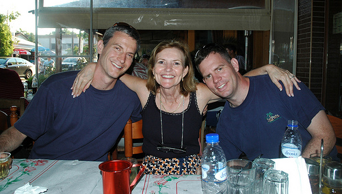 Vicci Turner with Sons, Rusty and Brad Swayne