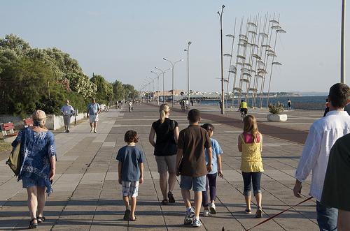 "Our ""1/2 Kilometer"" Stroll Begins"