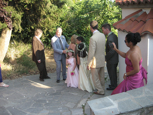 Wedding Party Makes Way to the Chapel