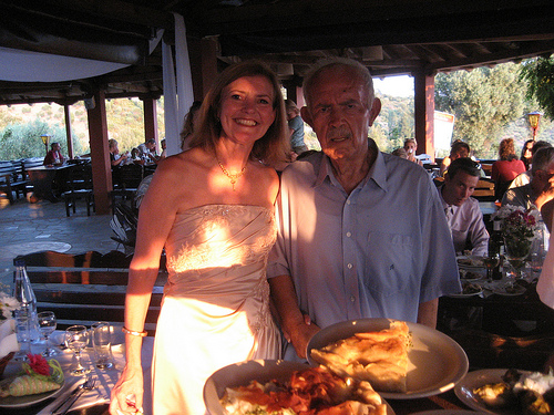 Vicci Turner with Paul of Paul's Taverna