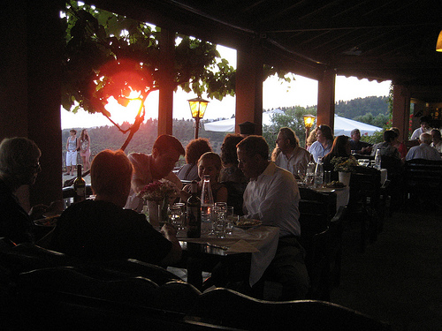 Sunset at the Taverna