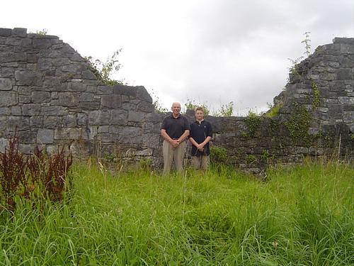 Grandpa, Tom Noland, and Alec at Limerick Wall