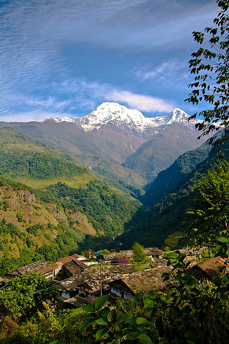 View from Annapurna Village