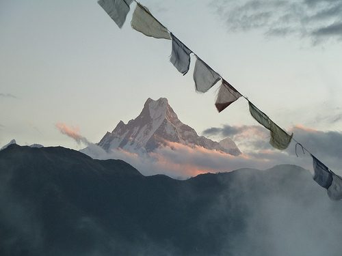 Machhupuchare (Fishtail) Mountain at sunrise