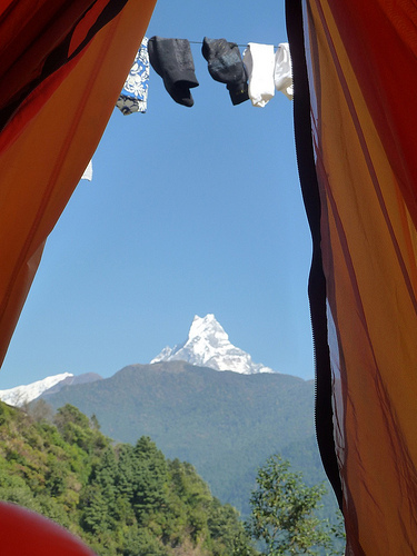 Tent with a View of Fishtail