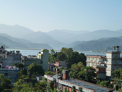 View of Phewa Lake, Pokhara From Our Hotel