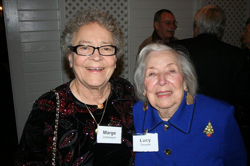 Marge Johansson and Lucy Templer