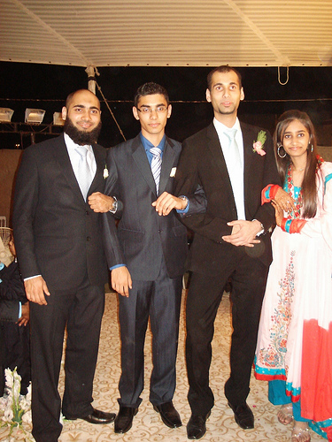 Omer Saleem with Brothers and Sister
