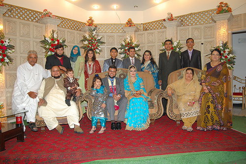 Family Photo at Valima Reception