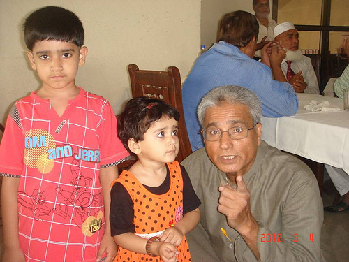 Rizwan with His Grand Children