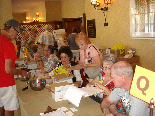 Registration volunteers