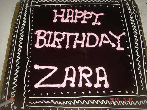 Happy 4th Birthday Zara