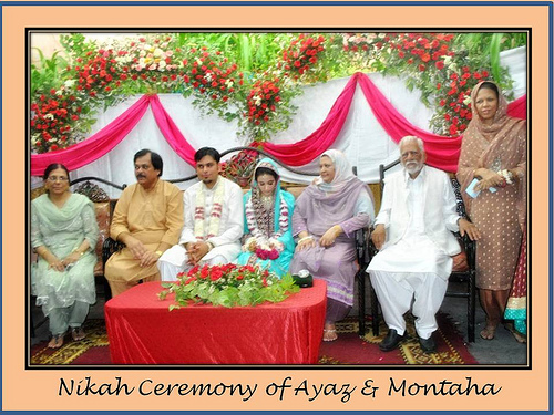 Montaha Alavi and Ayaz Jafri Wed (28)