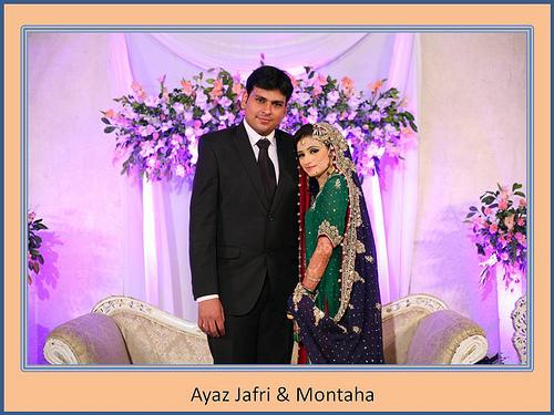 Montaha Alavi and Ayaz Jafri Wed (3)